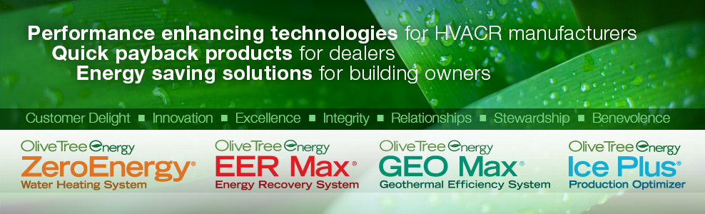 Creating products with Performance enhancing technologies for HVACR manufactures, Quick payback products for dealers. Energy saving solutions for building owners.